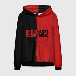Толстовка-худи мужская RDD 2: Black & Red цвета 3D-черный — фото 1
