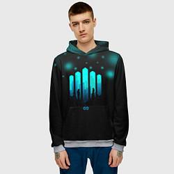 Толстовка-худи мужская The 100: City цвета 3D-меланж — фото 2
