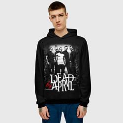 Толстовка-худи мужская Dead by April: Dark Rock цвета 3D-черный — фото 2
