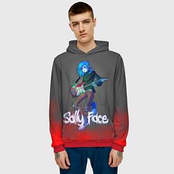 Толстовка-худи мужская Sally Face: Rock Star цвета 3D-красный — фото 2