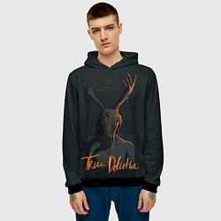 Толстовка-худи мужская True Detective цвета 3D-черный — фото 2