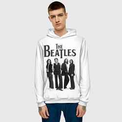 Толстовка-худи мужская The Beatles: White Side цвета 3D-белый — фото 2