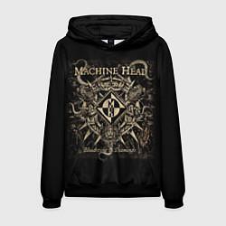 Толстовка-худи мужская Machine Head цвета 3D-черный — фото 1