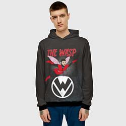 Толстовка-худи мужская The Wasp comics цвета 3D-черный — фото 2