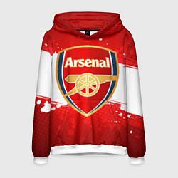 Толстовка-худи мужская Arsenal цвета 3D-белый — фото 1