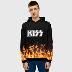 Толстовка-худи мужская Kiss: Hell Flame цвета 3D-черный — фото 2