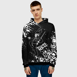 Толстовка-худи мужская My Chemical Romance цвета 3D-черный — фото 2