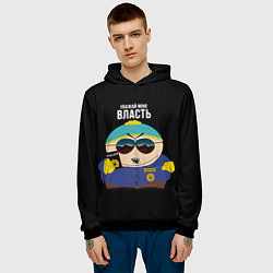 Толстовка-худи мужская South Park Картман полицейский цвета 3D-черный — фото 2