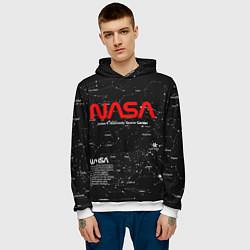 Толстовка-худи мужская NASA цвета 3D-белый — фото 2