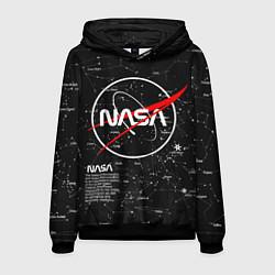 Толстовка-худи мужская NASA цвета 3D-черный — фото 1