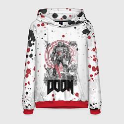 Толстовка-худи мужская Doom цвета 3D-красный — фото 1
