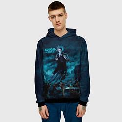 Толстовка-худи мужская Горшок восставшие мертвецы Король и Шут цвета 3D-черный — фото 2