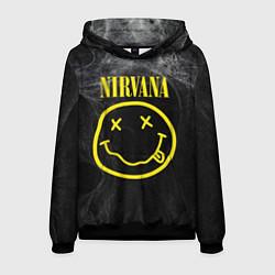 Толстовка-худи мужская Nirvana Smoke цвета 3D-черный — фото 1