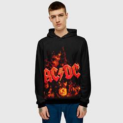 Толстовка-худи мужская AC/DC Flame цвета 3D-черный — фото 2