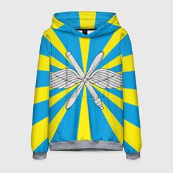 Толстовка-худи мужская Флаг ВВС цвета 3D-меланж — фото 1