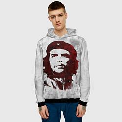 Толстовка-худи мужская Че Гевара цвета 3D-черный — фото 2