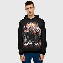 Толстовка-худи мужская Motorhead Band цвета 3D-черный — фото 2