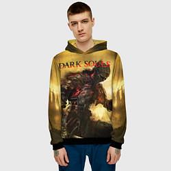 Толстовка-худи мужская Dark Souls: Braveheart цвета 3D-черный — фото 2