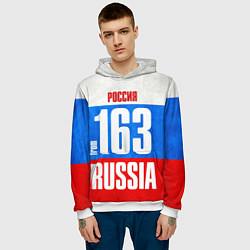 Толстовка-худи мужская Russia: from 163 цвета 3D-белый — фото 2