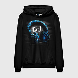 Толстовка-худи мужская DJ цвета 3D-черный — фото 1