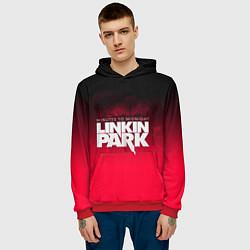 Толстовка-худи мужская Linkin Park: Minutes to midnight цвета 3D-красный — фото 2