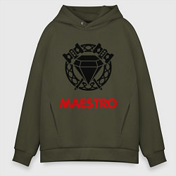 Толстовка оверсайз мужская Dwarf Fighter - Maestro цвета хаки — фото 1