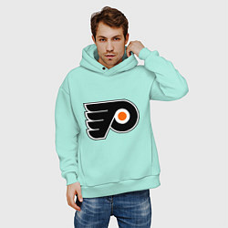 Толстовка оверсайз мужская Philadelphia Flyers цвета мятный — фото 2