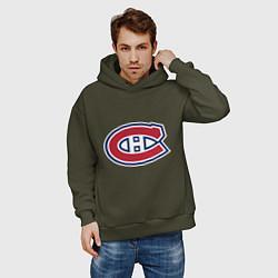 Толстовка оверсайз мужская Montreal Canadiens цвета хаки — фото 2