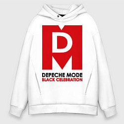 Толстовка оверсайз мужская Depeche Mode: Black Celebration цвета белый — фото 1