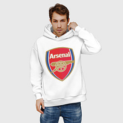 Толстовка оверсайз мужская Arsenal FC цвета белый — фото 2