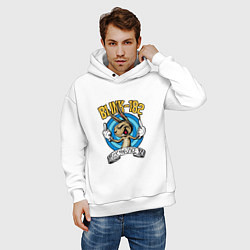 Толстовка оверсайз мужская Blink-182: Fuck you цвета белый — фото 2