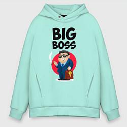 Толстовка оверсайз мужская Big Boss / Начальник цвета мятный — фото 1
