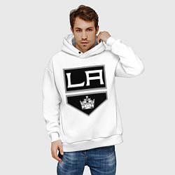 Толстовка оверсайз мужская Los Angeles Kings цвета белый — фото 2