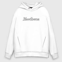 Толстовка оверсайз мужская Bloodborne цвета белый — фото 1