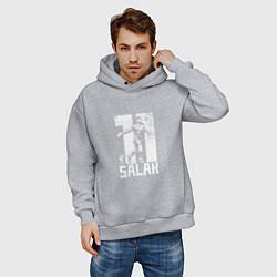 Толстовка оверсайз мужская Salah 11 цвета меланж — фото 2