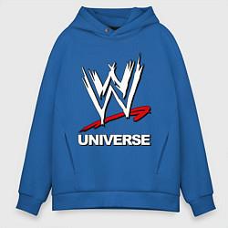 Толстовка оверсайз мужская WWE universe цвета синий — фото 1