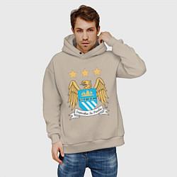 Толстовка оверсайз мужская Manchester City FC цвета миндальный — фото 2
