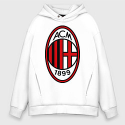 Толстовка оверсайз мужская Milan ACM цвета белый — фото 1