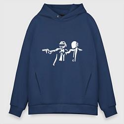 Толстовка оверсайз мужская Daft Punk цвета тёмно-синий — фото 1