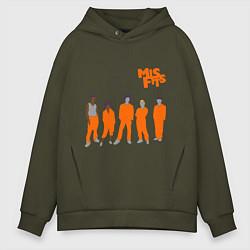 Толстовка оверсайз мужская Misfits Orange цвета хаки — фото 1