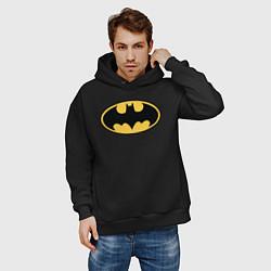 Толстовка оверсайз мужская Batman цвета черный — фото 2