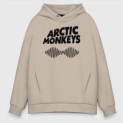 Толстовка оверсайз мужская Arctic Monkeys цвета миндальный — фото 1