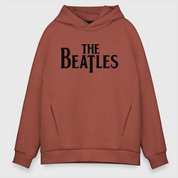 Толстовка оверсайз мужская The Beatles цвета кирпичный — фото 1