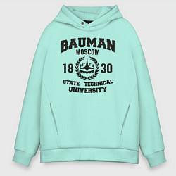 Толстовка оверсайз мужская BAUMAN University цвета мятный — фото 1