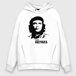 Толстовка оверсайз мужская Эрнесто Че Гевара цвета белый — фото 1