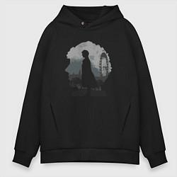 Толстовка оверсайз мужская Sherlock World цвета черный — фото 1