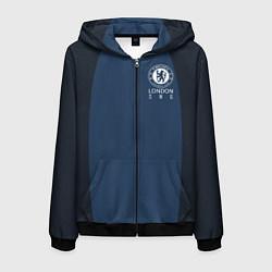 Толстовка 3D на молнии мужская Chelsea FC: London SW6 цвета 3D-черный — фото 1