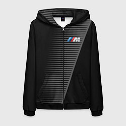 Толстовка 3D на молнии мужская BMW: Grey Colors Lines цвета 3D-черный — фото 1