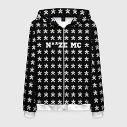 Толстовка 3D на молнии мужская Noize MC цвета 3D-белый — фото 1