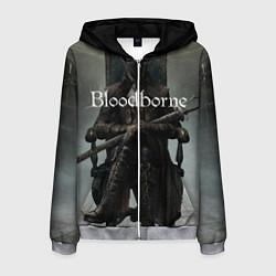 Толстовка 3D на молнии мужская Bloodborne цвета 3D-меланж — фото 1